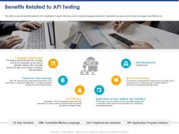 Benefits Related To API Testing Ppt Powerpoint Presentation Summary