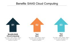 Benefits SAAS Cloud Computing Ppt Powerpoint Presentation Infographic Template Slide Portrait Cpb