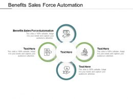 Benefits Sales Force Automation Ppt Powerpoint Presentation File Styles Cpb