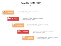 Benefits SCM ERP Ppt Powerpoint Presentation Styles Visual Aids Cpb