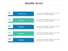 Benefits Scrum Ppt Powerpoint Presentation Ideas Maker Cpb
