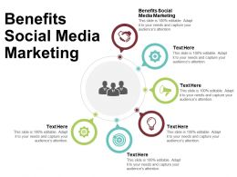 Benefits Social Media Marketing Ppt Powerpoint Presentation Infographic Template Vector Cpb