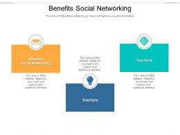 Benefits Social Networking Ppt Powerpoint Presentation Summary Grid Cpb