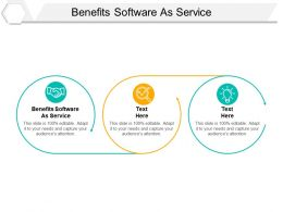 Benefits Software As Service Ppt Powerpoint Presentation Professional Skills Cpb