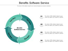 Benefits Software Service Ppt Powerpoint Presentation File Model Cpb