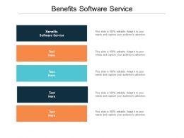 Benefits Software Service Ppt Powerpoint Presentation Icon Smartart Cpb