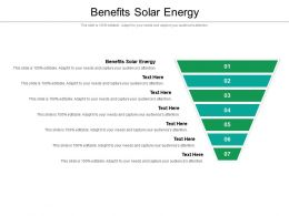 Benefits Solar Energy Ppt Powerpoint Presentation Show Shapes Cpb