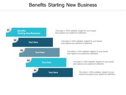 Benefits Starting New Business Ppt Powerpoint Presentation Model Inspiration Cpb