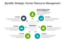 Benefits Strategic Human Resource Management Ppt Powerpoint Icons Cpb