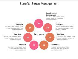 Benefits Stress Management Ppt Powerpoint Presentation Portfolio Influencers Cpb