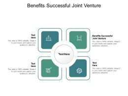 Benefits Successful Joint Venture Ppt Powerpoint Presentation Gallery Smartart Cpb
