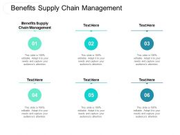 Benefits Supply Chain Management Ppt Powerpoint Presentation Inspiration Smartart Cpb