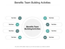 Benefits Team Building Activities Ppt Powerpoint Presentation Icon Example Cpb