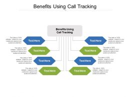 Benefits Using Call Tracking Ppt Powerpoint Presentation Model Slide Cpb