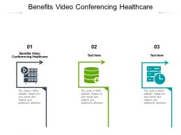 Benefits Video Conferencing Healthcare Ppt Powerpoint Presentation Icon Background Designs Cpb