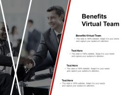 Benefits Virtual Team Ppt Powerpoint Presentation Show Files Cpb