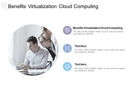 Benefits Virtualization Cloud Computing Ppt Powerpoint Presentation Icon Professional Cpb