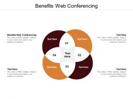 Benefits Web Conferencing Ppt Powerpoint Presentation Inspiration Graphics Example Cpb