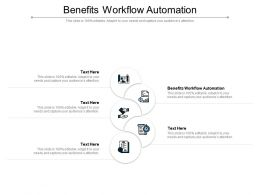 Benefits Workflow Automation Ppt Powerpoint Presentation Icon Background Cpb