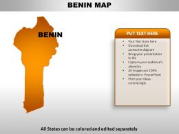Benin Country Powerpoint Maps