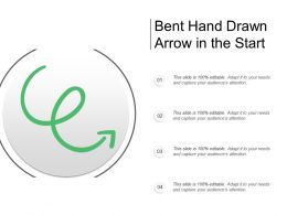 Bent Hand Drawn Arrow In The Start
