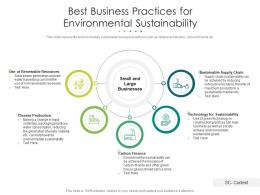 Best Business Practices For Environmental Sustainability