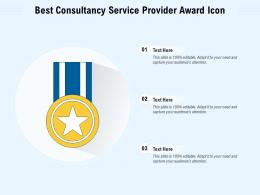 Best Consultancy Service Provider Award Icon