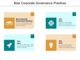 Best Corporate Governance Practices Ppt Powerpoint Presentation Layouts Skills Cpb