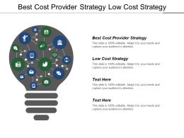 Best Cost Provider Strategy Low Cost Strategy Provider Strategy