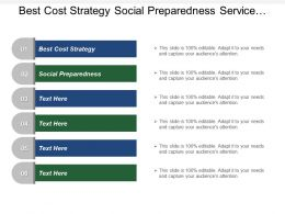 Best Cost Strategy Social Preparedness Service Research Consulting