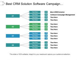 Best Crm Solution Software Campaign Management Sales Ppt Cpb