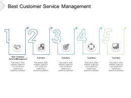 Best Customer Service Management Ppt Powerpoint Presentation Gallery Cpb