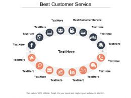 Best Customer Service Ppt Powerpoint Presentation File Formats Cpb