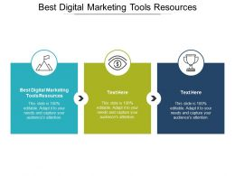 Best Digital Marketing Tools Resources Ppt Powerpoint Presentation File Influencers Cpb