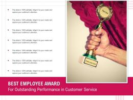 Best Employee Award For Outstanding Performance In Customer Service