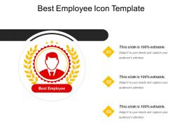 Best Employee Icon Template