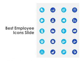Best Employee Icons Slide Ppt Powerpoint Presentation Icon Sample