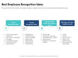 Best Employee Recognition Ideas Exclusive Event Ppt Powerpoint Presentation File Templates