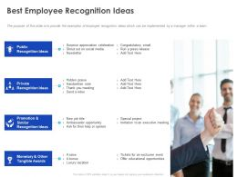 Best Employee Recognition Ideas Ppt Powerpoint Presentation Infographics Demonstration