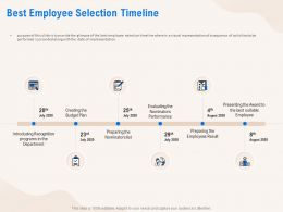 Best Employee Selection Timeline Budget Plan Ppt Powerpoint Presentation File Objects