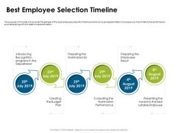 Best Employee Selection Timeline July To August Ppt Powerpoint Presentation Graphics