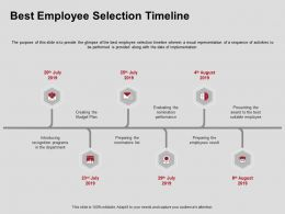 Best Employee Selection Timeline Performance Ppt Powerpoint Presentation Slides Guide