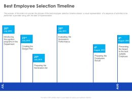 Best Employee Selection Timeline Ppt Powerpoint Presentation Inspiration Example