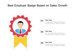 Best Employer Badge Based On Sales Growth