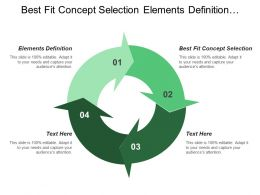 Best Fit Concept Selection Elements Definition Performance Capability Assessment