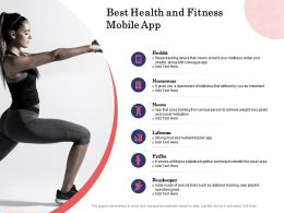 Best Health And Fitness Mobile App