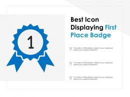 Best Icon Displaying First Place Badge
