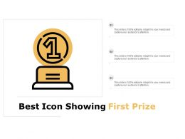 Best Icon Showing First Prize