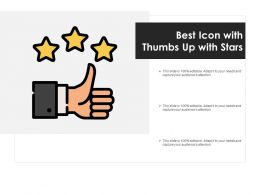 Best Icon With Thumbs Up With Stars