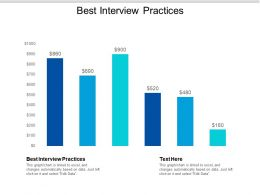 Best Interview Practices Ppt Powerpoint Presentation File Example Cpb